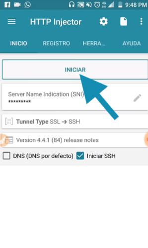 nuevos ehis servidores at&t http injector app