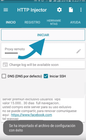 payload crear servidores antel http injector uruguay