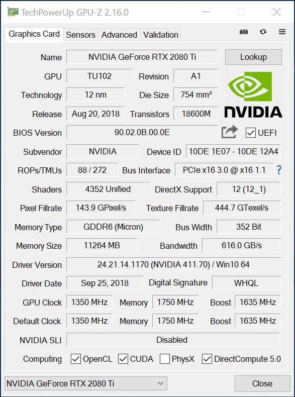 Zotac GeForce RTX 2080 Ti Twin Fan Review Testing a Custom