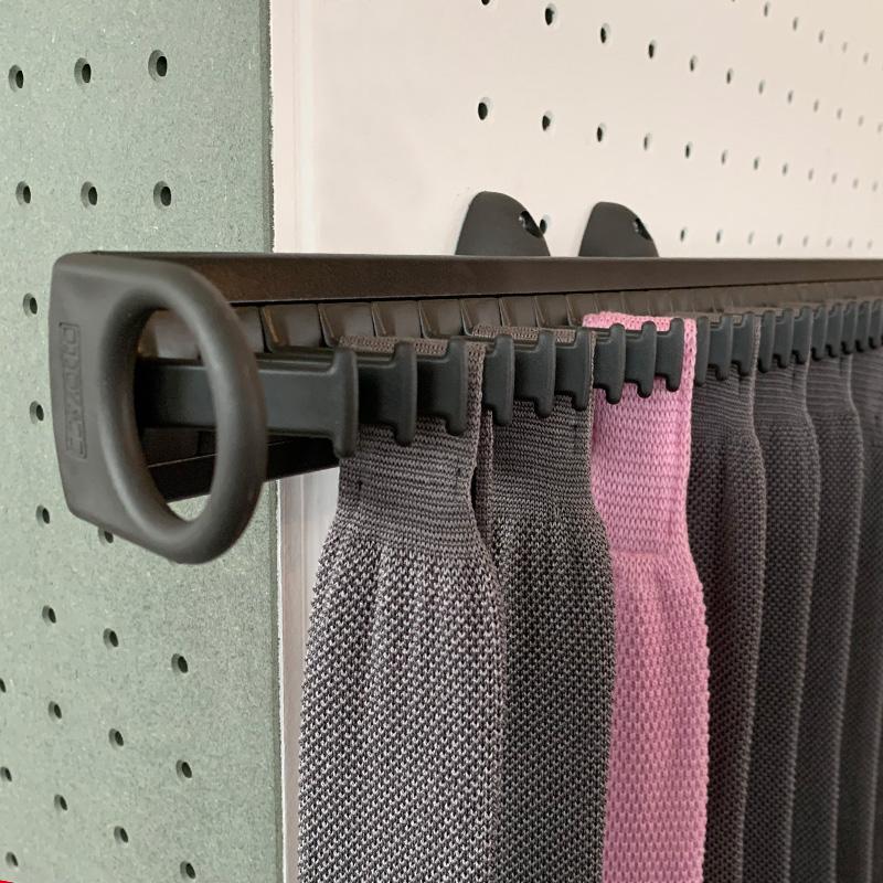 pull out tie rack 32 hooks brown brown ssnbp161b