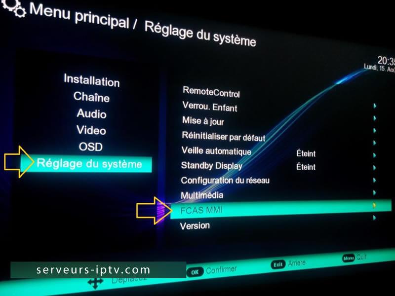 Comment Activer SMART IPTV sur SAMSAT 80 mini HD - Serveurs