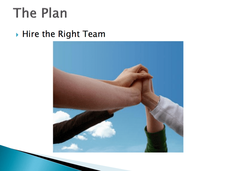 The Plan - Hire the Right Team