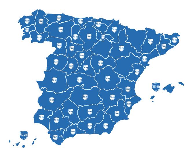 Mapa Instaladores España