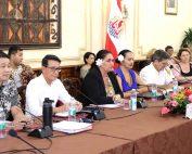 Photo de la conférence de presse sur la réouverture des frontières