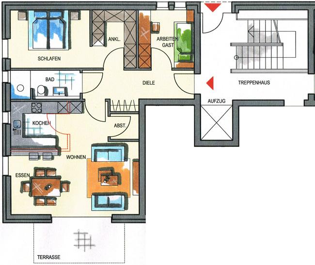 Haus 3  Wohnungstypen