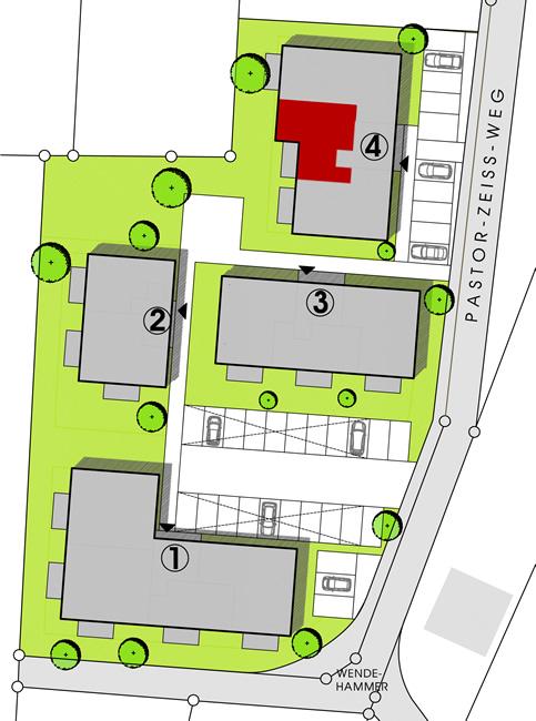 Haus 4  Wohnungstypen