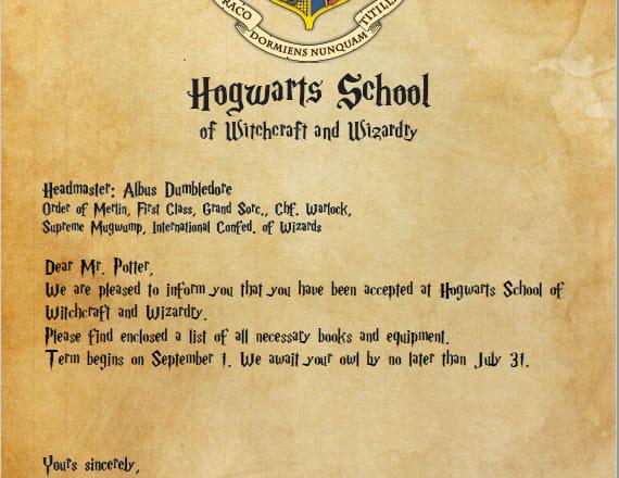printable hogwarts acceptance letter