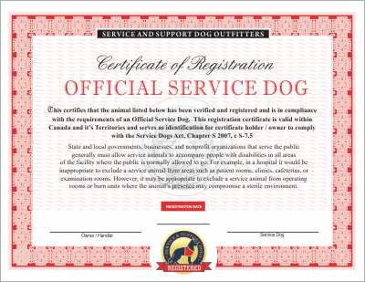 Emotional Service Dog License Anxiety