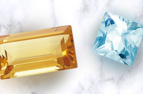 blue topaz and citrine