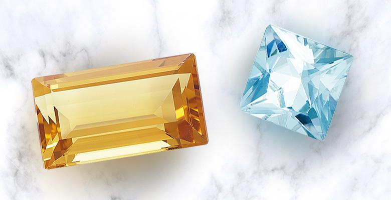 blue topaz and citrine