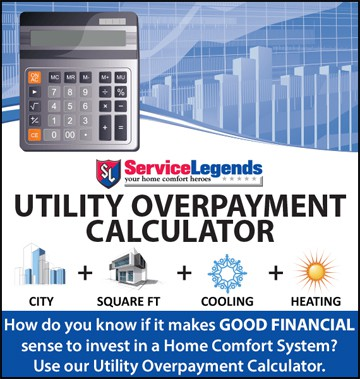 utility overpayment calculator