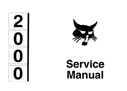Bobcat 2000 Articulated Loader Service Repair Manual