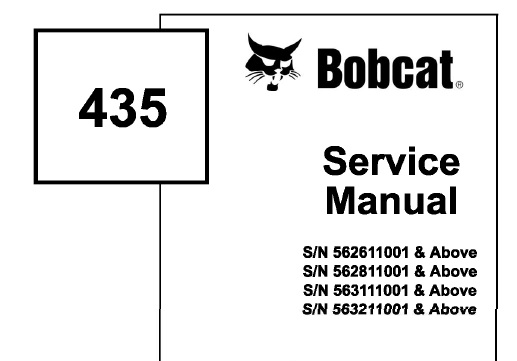 Bobcat 435 Compact Excavator Service Repair Manual