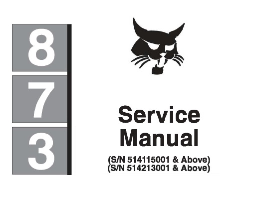 Bobcat 873 Skid Steer Loader Service Repair Manual #2