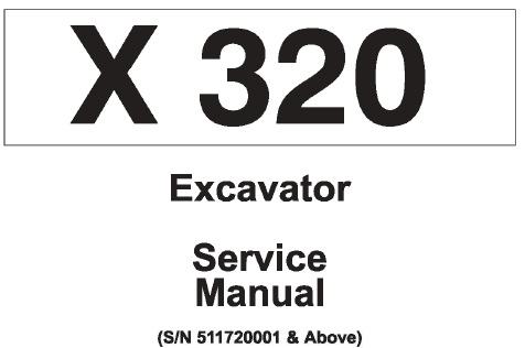 Bobcat X320 Hydraulic Excavator Service Repair Manual