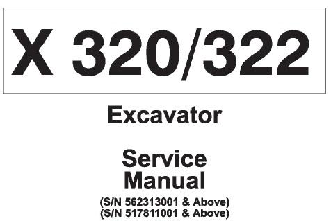 Bobcat X320, X322 Hydraulic Excavator Service Repair