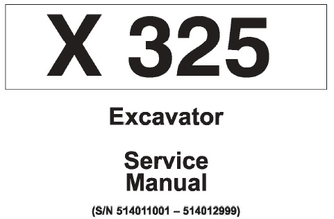 Bobcat X325 Hydraulic Excavator Service Repair Manual (S/N