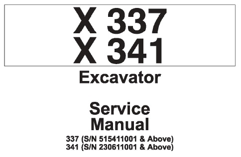 Bobcat X337 , X341 Compact Excavator Service Repair Manual