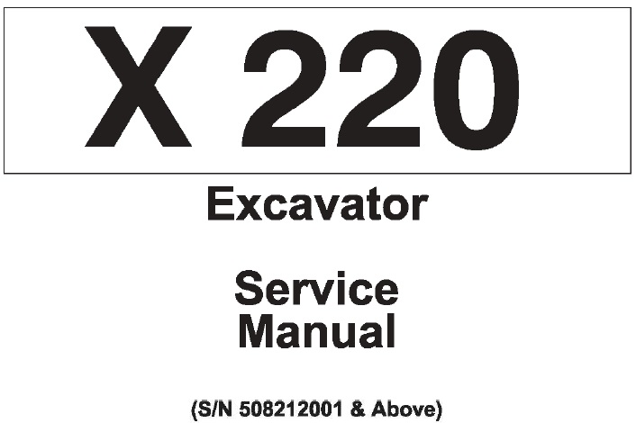 Bobcat X220 Hydraulic Excavator Service Repair Manual (SN