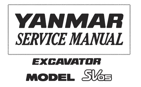 Yanmar SV05 Excavator Service Repair Manual