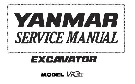 Yanmar ViO20 Excavator Service Repair Manual