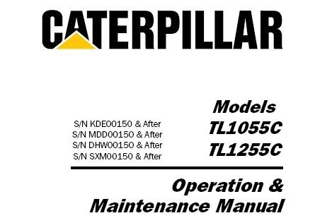 Caterpillar Cat TL1055C TL1255C Telehandler Operation and