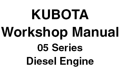 KUBOTA 05 Series Diesel Engine (D905, D1005, D1105, V1205