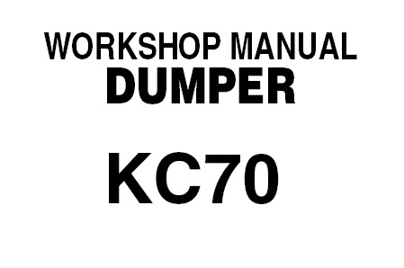 KUBOTA KC70 DUMPER Service Repair Manual