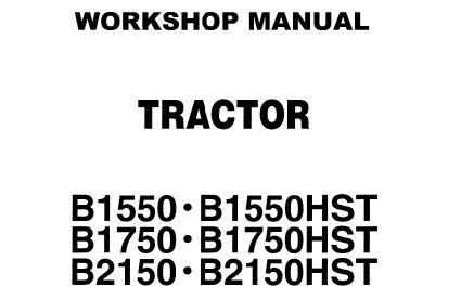 Kubota B1550 B1750 B2150 (HST) Tractors Service Repair