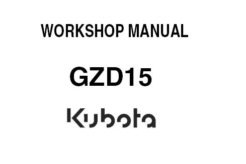 Kubota GZD15 (GZD15-LD, GZD15-HD) Zero Turn Mower Service