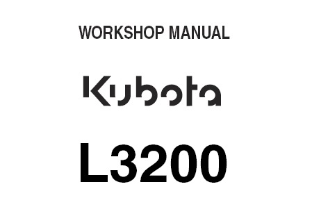 Kubota L3200 Tractor Service Repair Manual