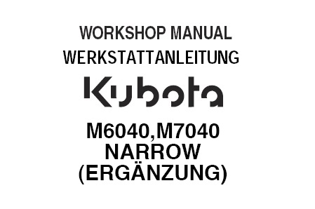 Kubota M6040 , M7040 Tractor Service Repair Manual (German