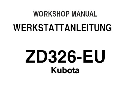 Kubota ZD326-EU Tractor Service Repair Manual (German