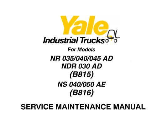 Yale B815 (NR 035-040-045 AD, NDR 030-AD), B816 (NS 040