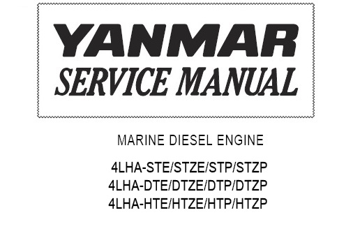 Yanmar 4LHA Series Marine Diesel Engine Service Repair
