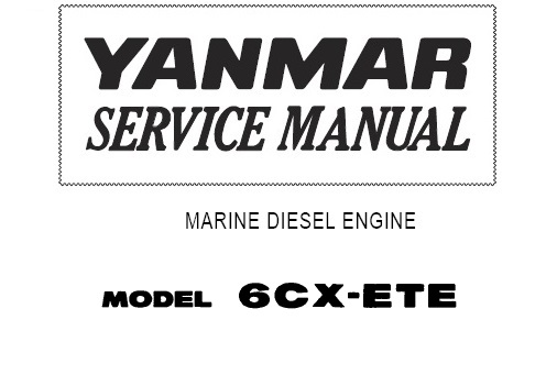 Yanmar Marine Engine 6CX-ETE Service Repair Manual
