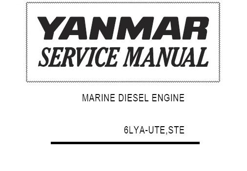 Yanmar Marine Diesel Engine 6LYA-UTE, 6LYA-STE Service