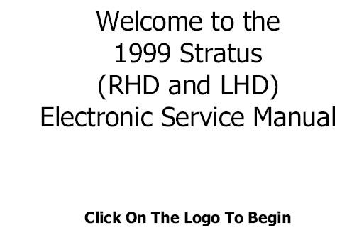 1998 Chrysler Stratus (RHD & LHD) Service Repair Manual