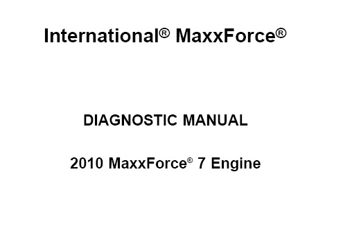 2010 Navistar MaxxForce 7 Engine Diagnostic Manual