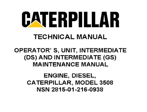 Caterpillar 3508 Diesel Engine Techninal Service Manual