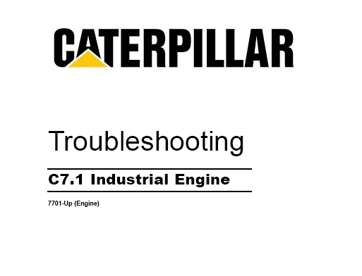 Caterpillar C7.1 Industrial Engine Troubleshooting Service