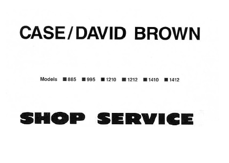 David Brown 885 995 1210 1212 1410 1412 Tractor Service