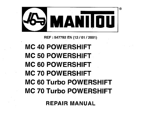 Manitou Mc 40 50 60 70 Powershift Service Repair Manual