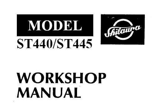 Shibaura ST440 , ST445 Tractor Service Repair Manual
