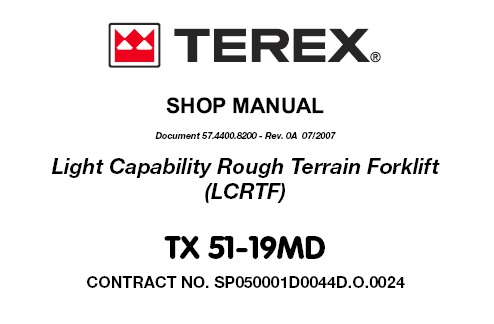 Terex TX 51-19MD Light Capability Rough Terrain Forklift