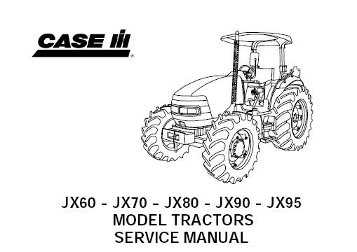 Case IH JX60, JX70, JX80, JX90, JX95 Tractor Service