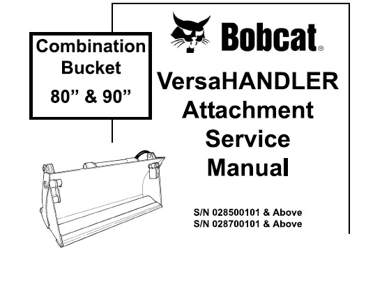 Bobcat Combination Bucket 80 and 90 Versahandler