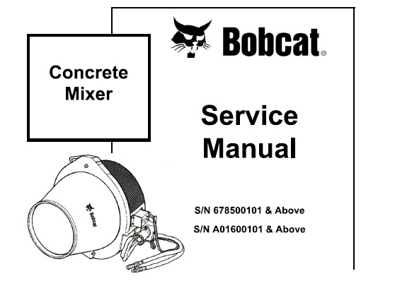 Bobcat Concrete Mixer Service Repair Manual #1