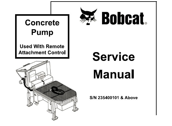 Bobcat Concrete Pump Service Repair Manual #2