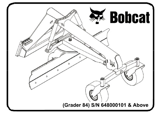 Bobcat Grader 84 Service Repair Manual